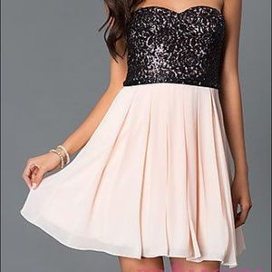 Sequin Hearts Formal Homecoming Dress